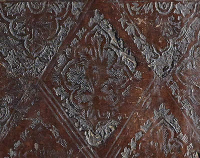 Detail from the 15th/16th century leather binding