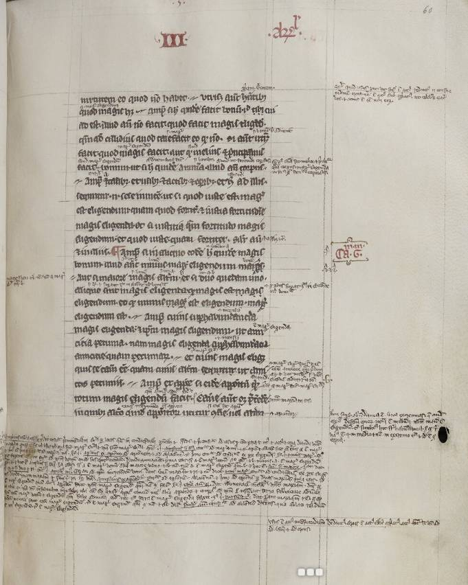 Page from Aristotle's Logica nova, with commentary