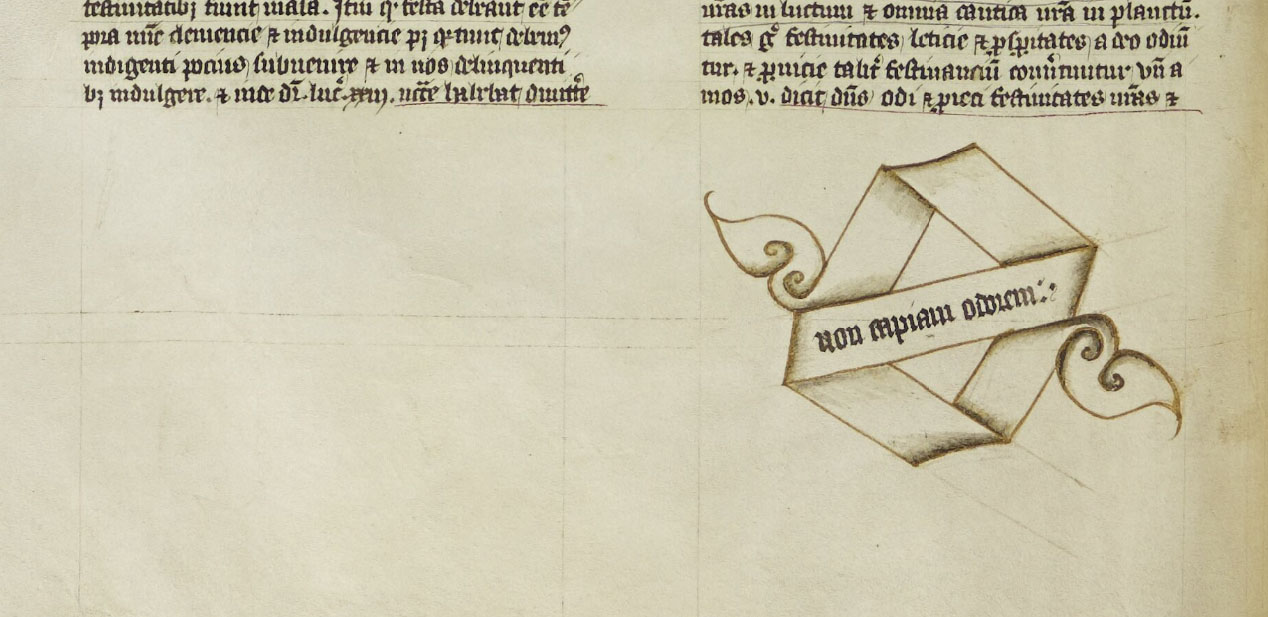 Detail from Durham Cathedral Library MS. A.I.18A - Pierre Bersuire, Repertorium morale, volume 2, part 1, f.9v