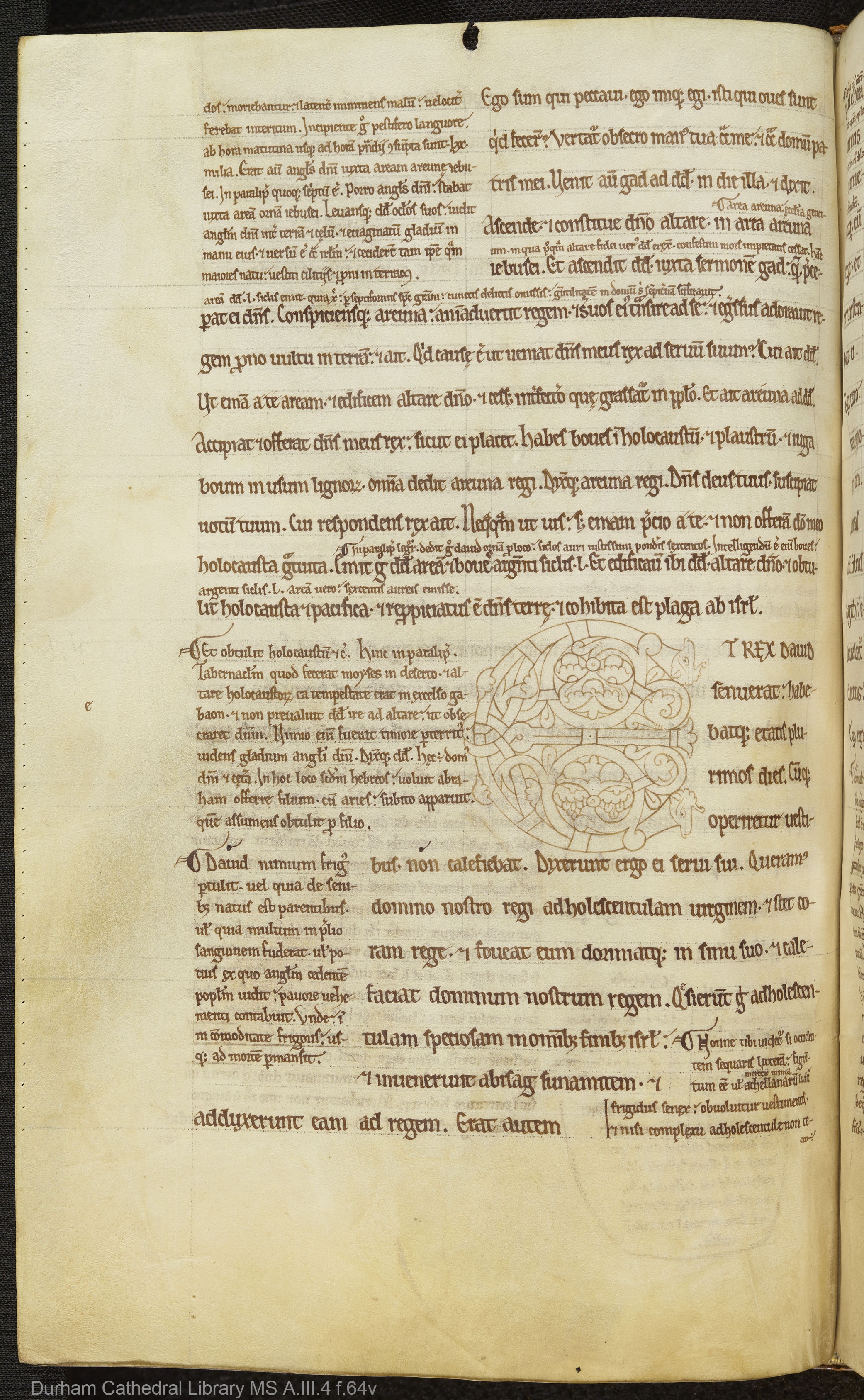 Durham Cathedral Library MS A.III.4 f.64v full page, A4