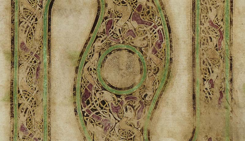 A detail from the Durham Gospels - Durham Cathedral Library MS A.II.17, f.2r